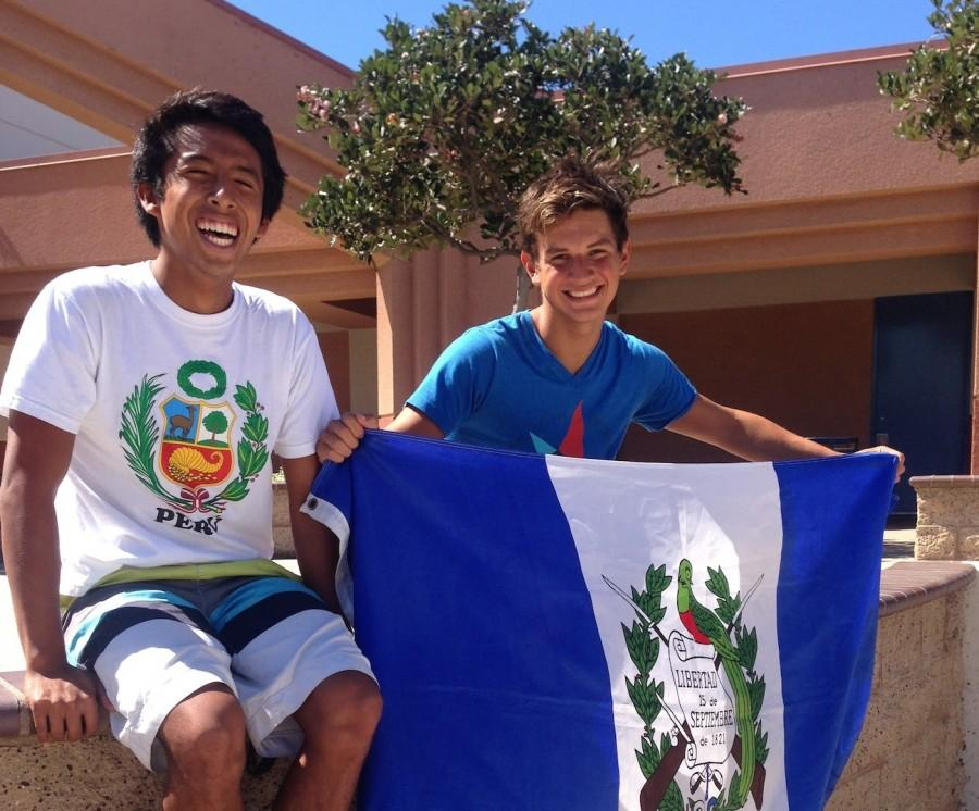 Oxnard High School seniors Luciano Huapaya and Brandon Haase embracing their heritage.