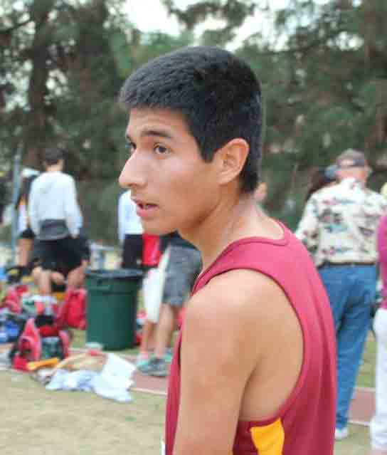 Leon after racing for the second consecutive year at a CIF cross country race.