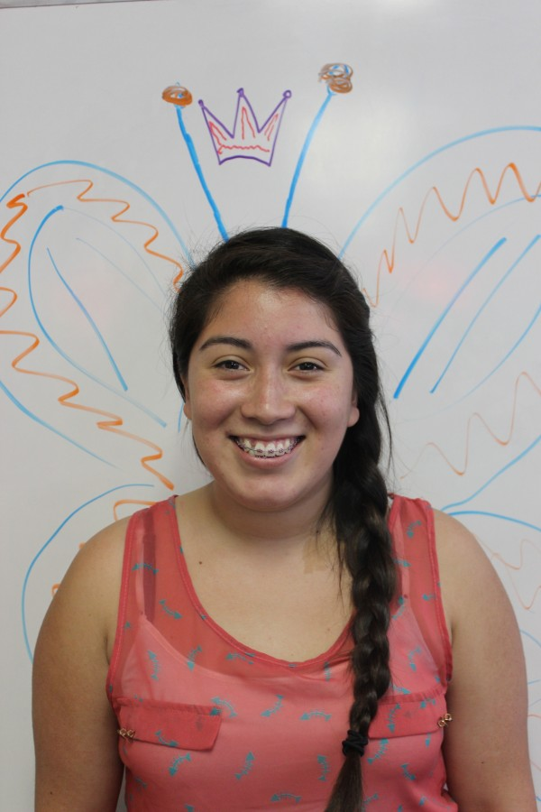 Senior Oxnard High School student and OHS The Buzz Layout Editor, Patricia Casimiro.