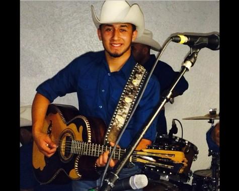 Senior Gabriel Medina performing with his band.