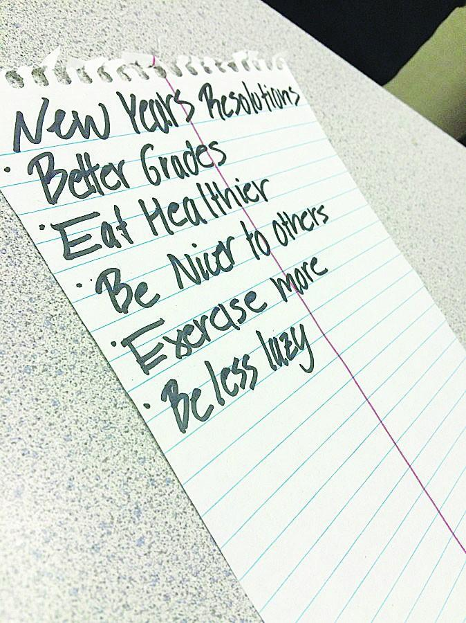 Oxnard High School reflect on their New Year's resolutions.