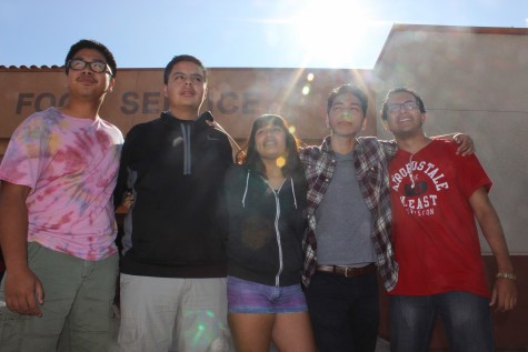 The Vintage Productions staff. From left to right: Michael Satumba, Abraham Aguilar, Hayley Luis, Ramon Acevedo, Rodrigo Carranza.
