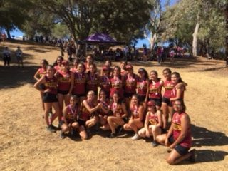 OHS Cross Country Girls after the first meet of the season