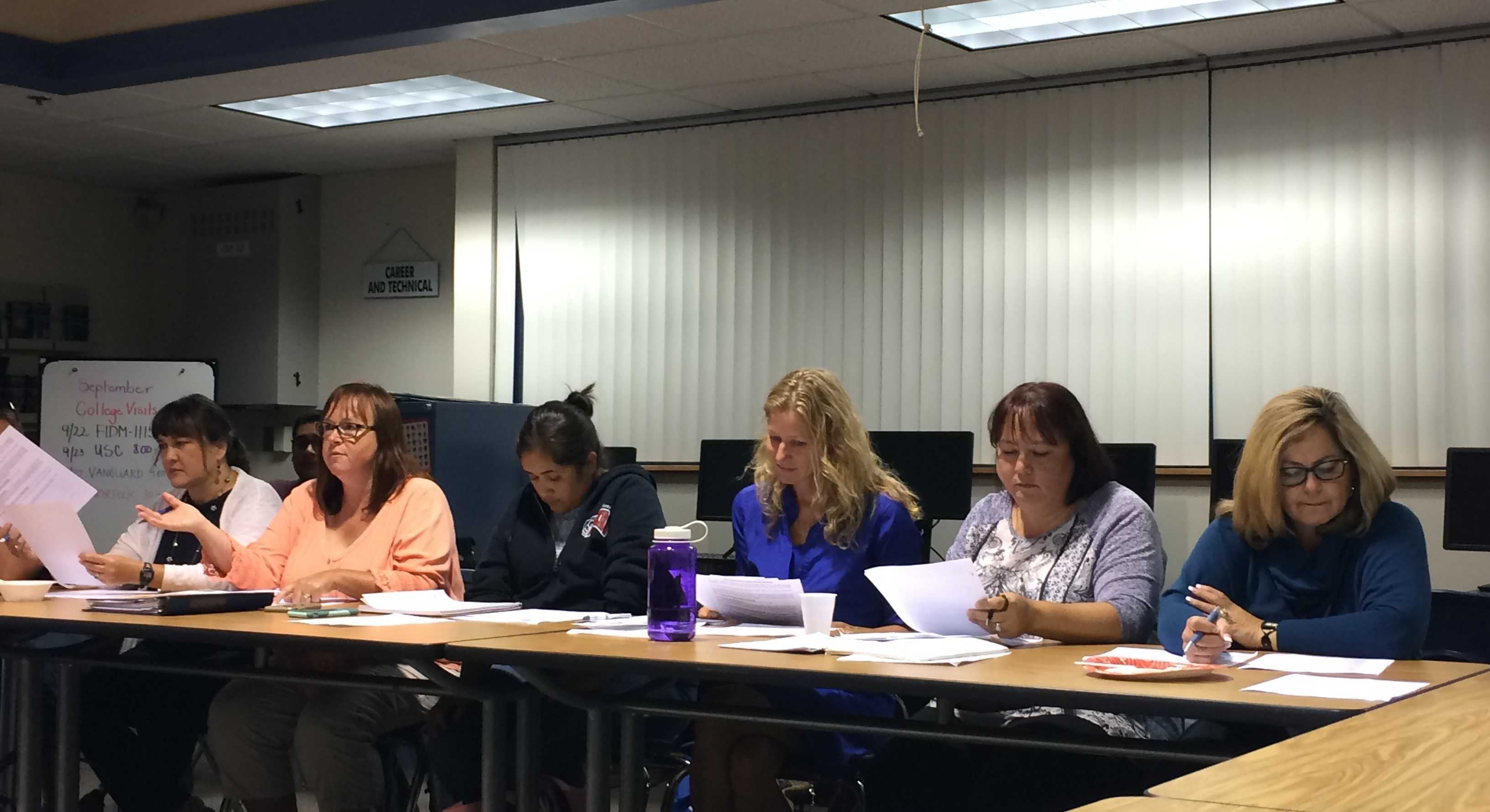 The PTSA Board at the first meeting held on September 13, 2016
